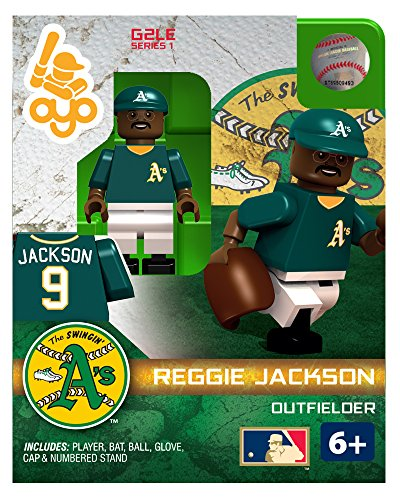 MLB Oakland Athletics Reggie Jackson HOF G2 Series 1 Minifigure Limited Edition Minifigure, Small, White - Reggie Jackson Uniform