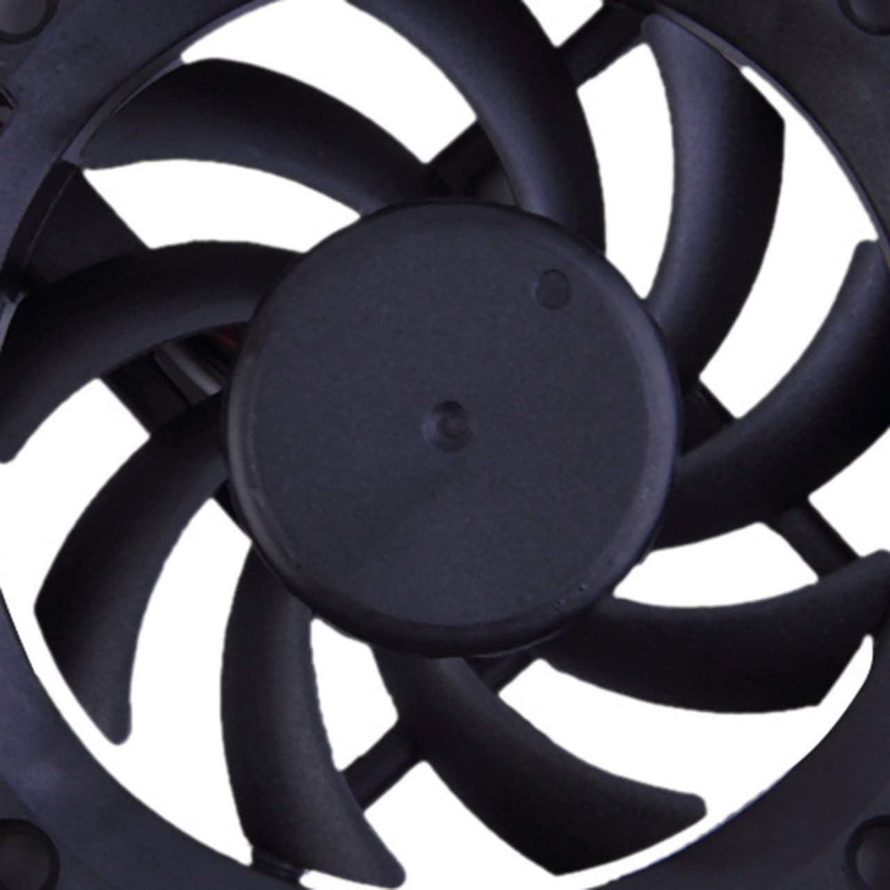 10/% 3 Pines 7cm 12 V Rodamiento de Bolas Caja de Ahorro de energ/ía Ventilador de enfriamiento para computadora ESjasnyfall Negro ABS Negro Ahorro de energ/ía 16.0dB //