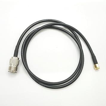 hindustry Yaesu Handheld a PL259 Cable SMA macho a UHF hembra Coaxial Jumper se conecta a