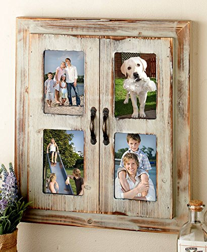 The Lakeside Collection Rustic Window Collage Frame-Distressed ()
