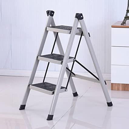 Awe Inspiring Amazon Com Yxq 3 Step Stool Ladder For Adults Iron Folding Theyellowbook Wood Chair Design Ideas Theyellowbookinfo
