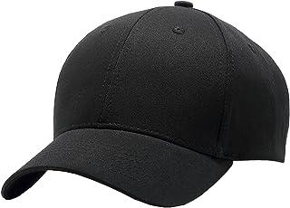 TESOON Baseball Cap Classic Cotton Plain Adjustable Baseball Hat Cap Black