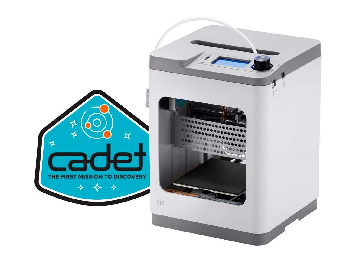 Monoprice MP Cadet 3D Printer, Full Auto Leveling, Print Via WiFi, Small Footprint Perfect for a Desktop, Office, Dorm Room, or The Classroom