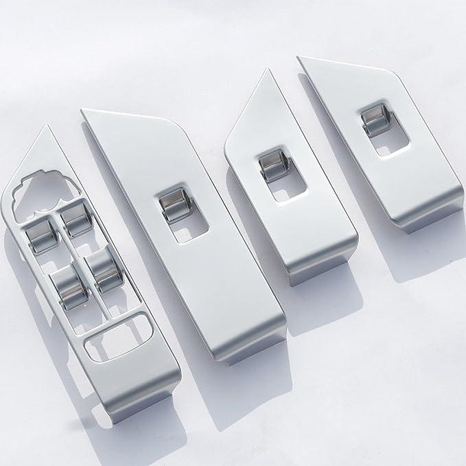4 Abs Innen Silber Chrom Matt Zubehör Fenster Button Rahmen Rand Links Hand Treiber Auto