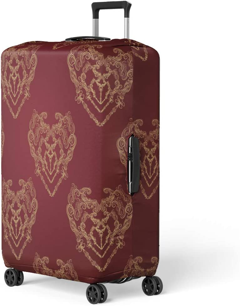Pinbeam Luggage Cover Watercolor Pastel Abstract Paint Splatter Orange Stoke Painting Travel Suitcase Cover Protector Baggage Case Fits 26-28 inches