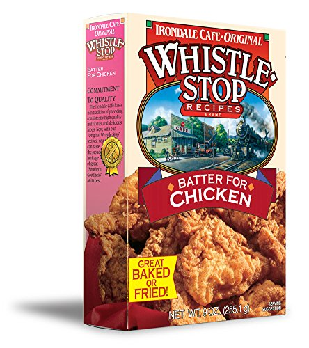 Original WhistleStop Cafe Recipes | Batter Mix for Chicken | 9-oz | 1 (Southern Fried Chicken)