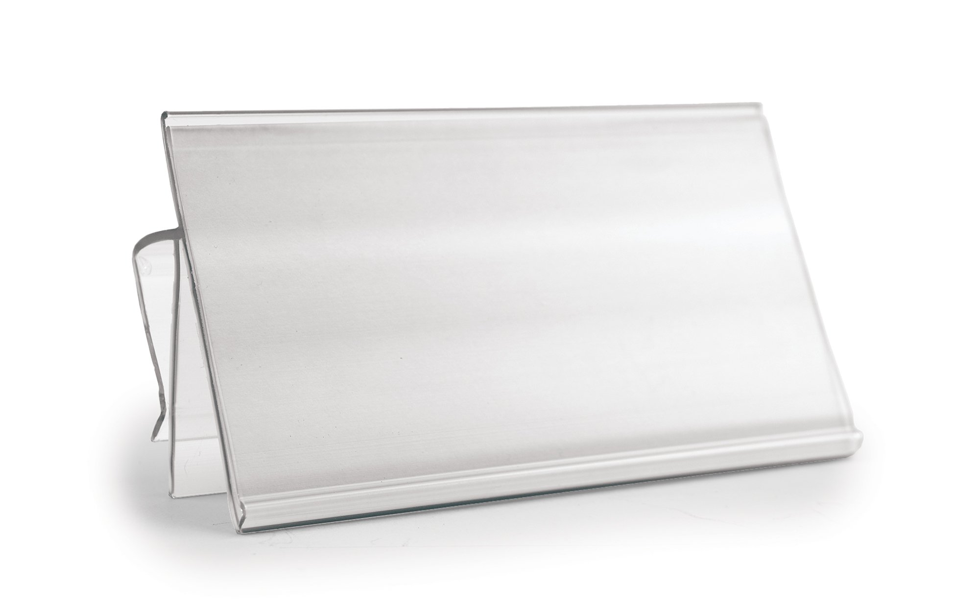 Clear Clip On Bin Label Holder - For Label Size 4''W x 2''H by Aigner Label Holder Corporation
