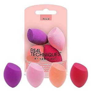 Mini Miracle Complexion Sponge Makeup Blender, Set of 4 Beauty Sponges