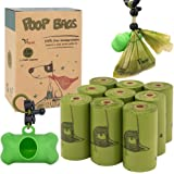 Vitervi Dog Poop Bags, Extra Thick Strong 100% Leak Proof, Doggie Bags with Dispenser, Biodegradable Dog Waste Bags