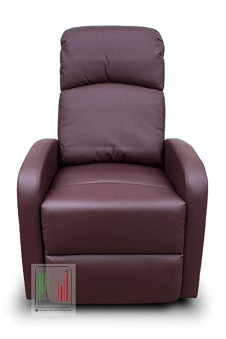 Poltrone Relax Tv.Stil Sedie Poltrona Reclinabile Recliner Con Tre Livelli Di Posizione Poltrona Relax Poltrona Tv Poltrona Letto Colore Bordeaux