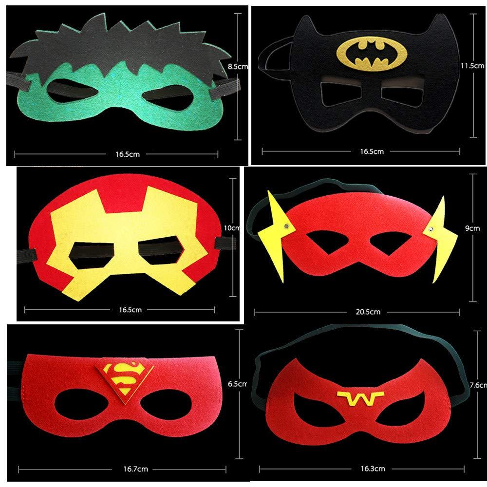 Rgargga Masques de Super-Héros, 9pcs Masques pour Enfants Dress Up Masque de Super-héros Cosplay Pour Enfants Cadeaux D\'anniversaire et Fête d\'Anniversaire pour Filles, Garçons et enfants