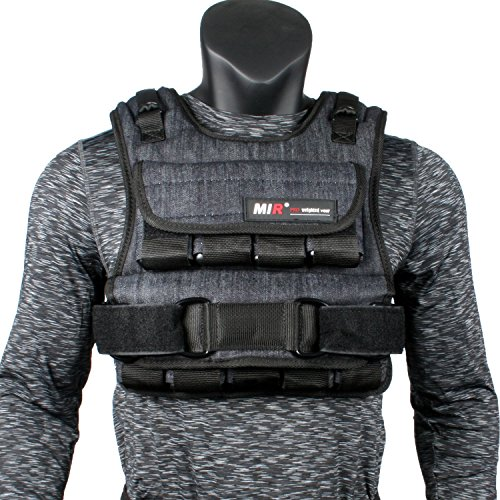 miR Air Flow Weighted Vest with Zipper Option 20lbs – 60lbs