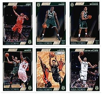 78ebab8c4 2016-17 Panini NBA Hoops Milwaukee Bucks Team Set of 12 Cards  Giannis  Antetokounmpo