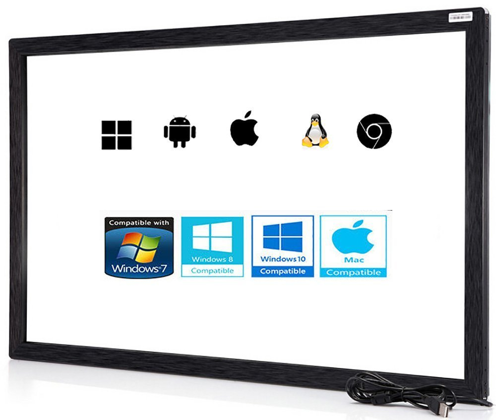 50 inch 10 Point Multi-Touch Infrared Touch Frame, ir Touch Panel, Infrared  Touch Screen Overlay