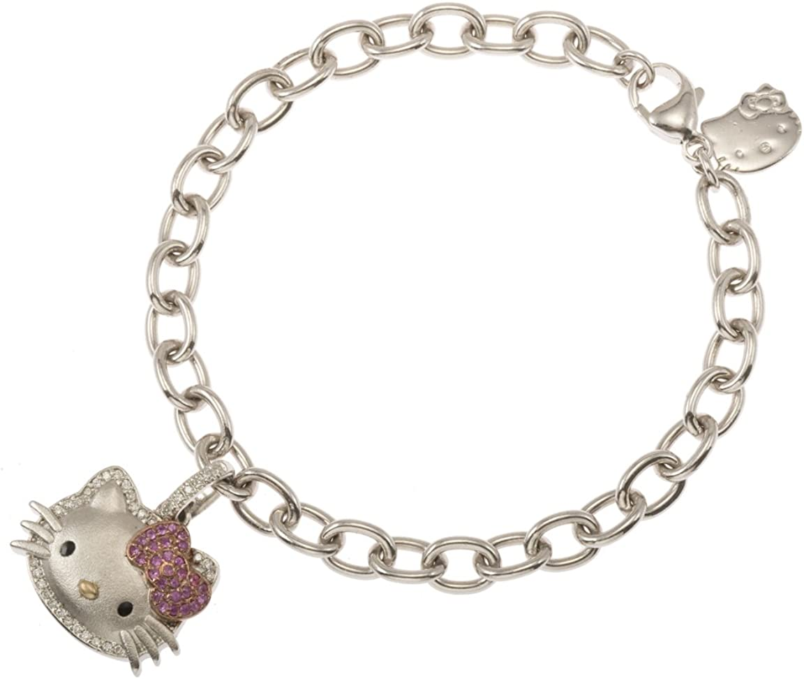 Amazon Com Hello Kitty Super Cute Charm Bracelet 7 Jewelry