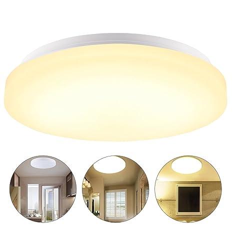 13W LED Moderno Lámpara de techo, Salón Cocina Dormitorio Baño Vestíbulo De La Lámpara, Blanco cálido, IP44 impermeable, 960 Lumen, Ahorro De Energía ...