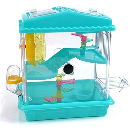 DRKJ Acrílico Transparente Hamster Jaula De Lujo Hamster Jaula ...