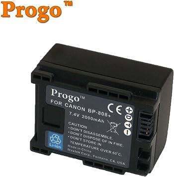 Batería 2x para Canon bp808 bp809 bp819 bp827 info chip
