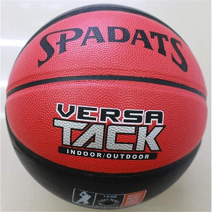 Sxuefang Baloncesto Rojo y Negro 8 PU, Interior y Exterior ...