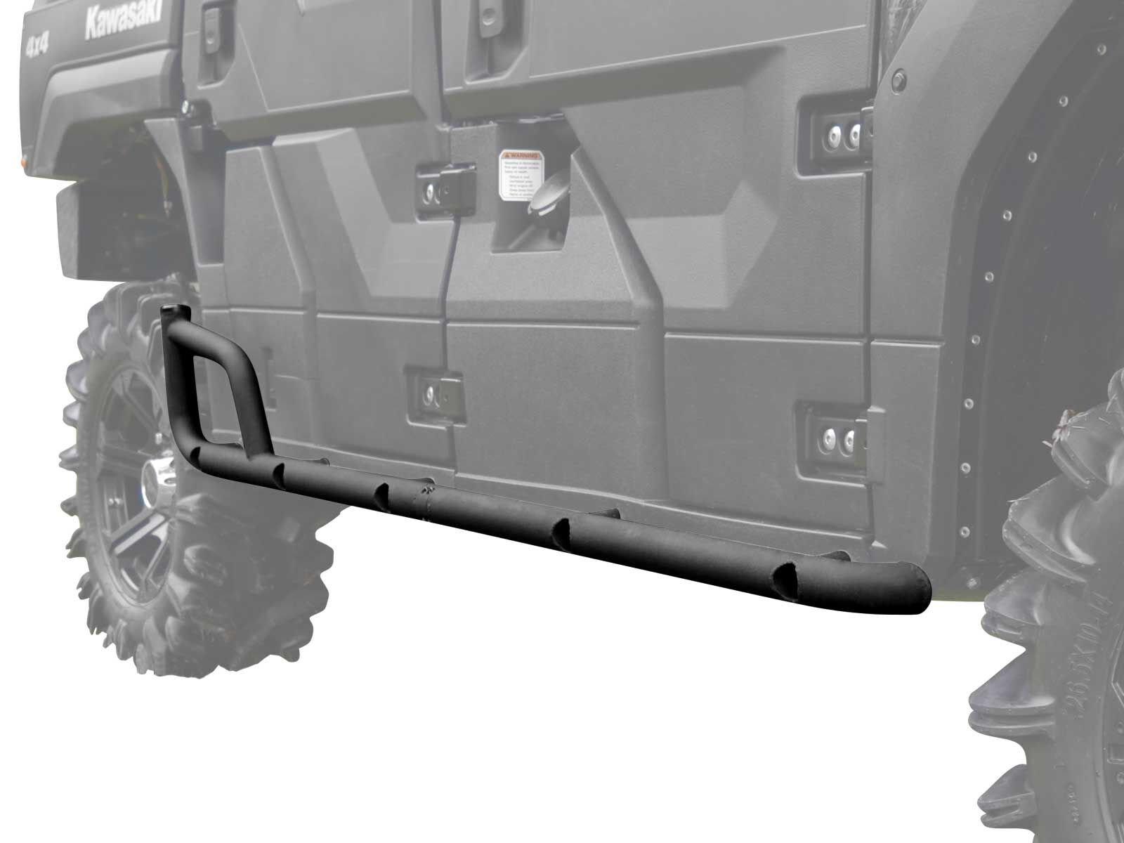 SuperATV Kawasaki Mule Pro DX / DXT / FX / FXT / FXR Heavy Duty Nerf Bars / Rock Sliders (2015+)
