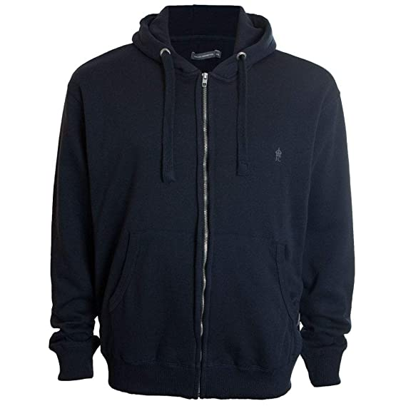 c7ad0b50d09 French Connection Men's Kingsize 57KDA Zip Hoodie Blue: Amazon.co.uk:  Clothing