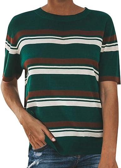 Camiseta para Mujer, ZODOF Verano Camisetas Cortas Manga ...