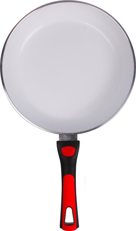 Cera Click - Sartén Sartén Con Revestimiento Cerámico - 24 cm de diámetro - con mango desmontable - enorme antiadherente - Fácil Limpieza - sin PTFE - sin ...
