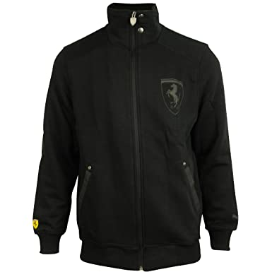 d641a5664ae Puma Mens Scuderia Ferrari SF Formula 1 Black Track Top Sweat Jacket Size  XXL  Amazon.co.uk  Clothing