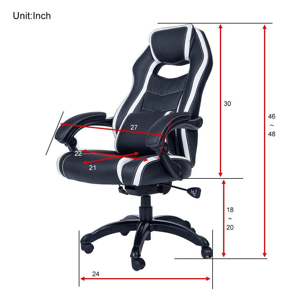 Merax Espacioso de Espalda Alta Silla de Estilo Juego de sillón reclinable (Color Blanco): Amazon.es: Hogar