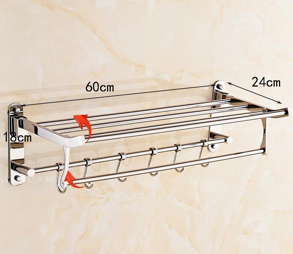 タオルバー 304ステンレススチールタオルラックバスルーム折りたたみタオルラックミシンタオルラック ( サイズ さいず : 50 cm 50 cm ) B07CJSMYKG 50 cm 50 cm 50 cm 50 cm