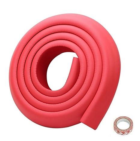 Lomire Protector de Bordes Mueble para Bebes Beige Tira Anti-golpe Suave de 2M Forma de U Espuma con Adhesiva Para Mesa Armario Puerta