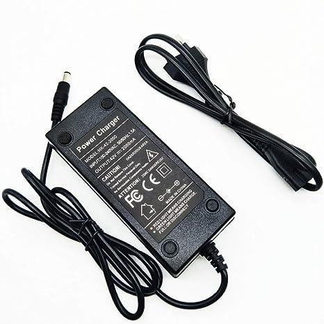 AMPERBIKE Cargador baterías de 36V (Salida 42V y 2A) 5.5mm ...