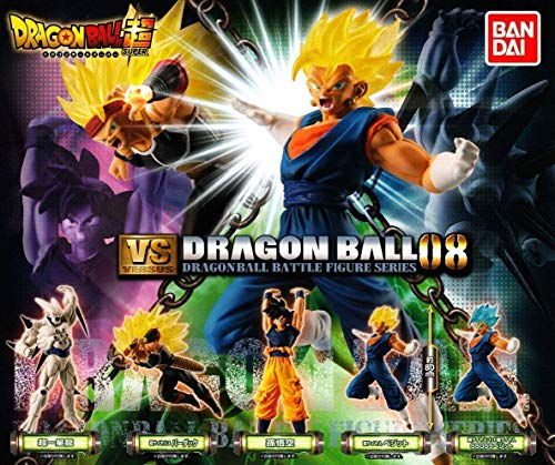 Set Complet 5 Figures Collection Dragonball Versus DB Super Battle 08 Omega Shenron SS3 Bardock Son Gokou Super Saiyan God Gogeta Vegito Bandai Japan Gashapon