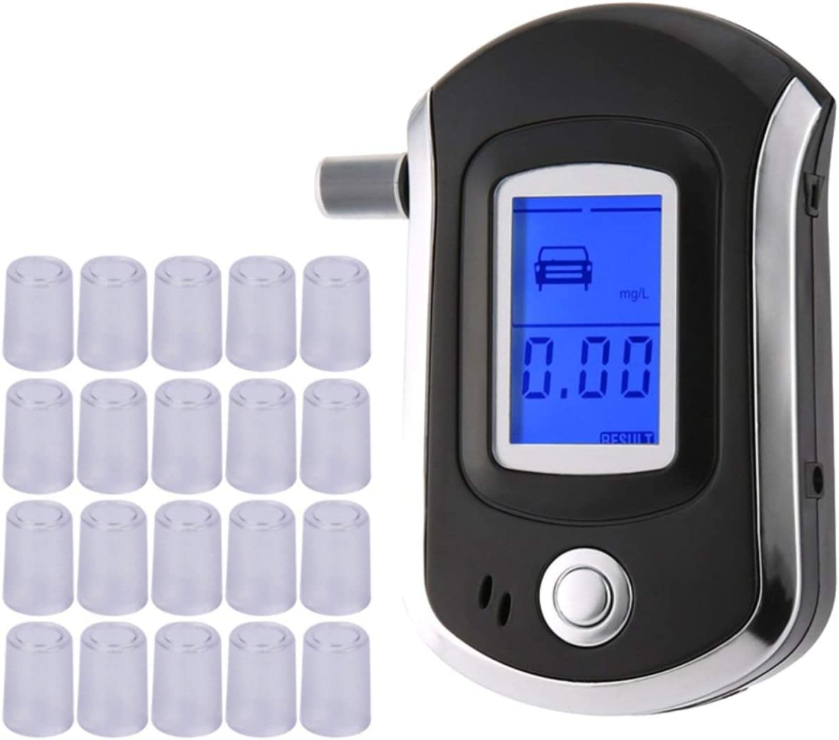 Boquillas para Aliento Alcohol Tester Alcohol/ímetro Boquillas de soplado de alcohol/ímetro Digital Boquillas Transparentes Jasnyfall