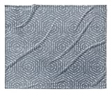 KAVKA Designs Aversa Fleece Blanket, (Blue) - ENCOMPASS Collection, Size: 90x90x1 - (TELAVC8015SUB9)