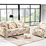 RUGAI-UE Sofa Slipcover sofa full cover sofa cover full sofa cushion sofa cloth covers four non slip,Single seat 90-140cm,Hawaii - red green