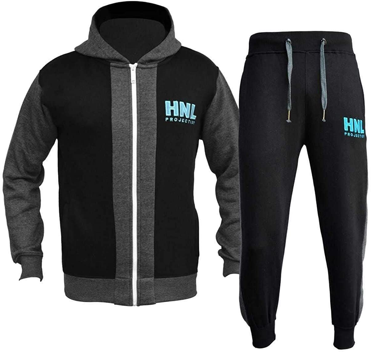 Mens HNL Tracksuit Hoodie Joggers Sweats Sweatshirt Pants Bottoms Plus All Sizes