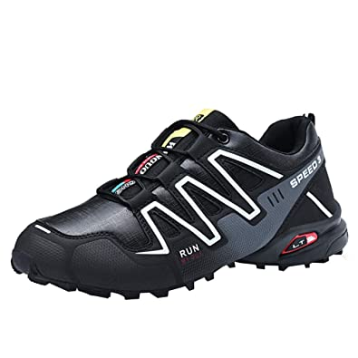93c0b9b8f223 MIRRAY Men Running Shoes Non-Slip Sneakers Hiking Shoes Lace-up Tennis  Athletic Outdoor Sports Gym Shoes  Amazon.co.uk  Shoes   Bags