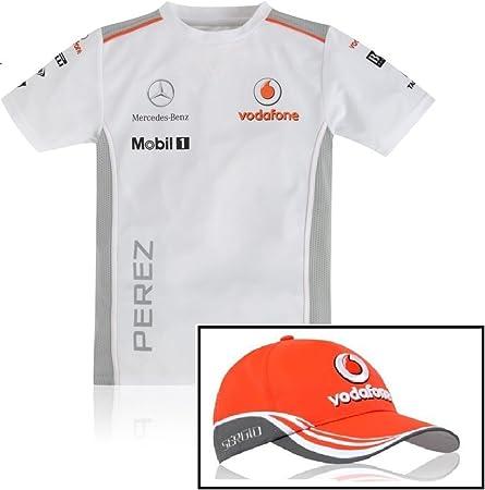 Niños Fórmula Uno 1 gorra del equipo Vodafone Mclaren 2013 ...