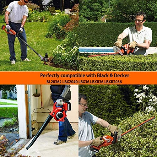 Noir et Decker GLC3630L 36v sans fil li-ion grass trimmer 30cm