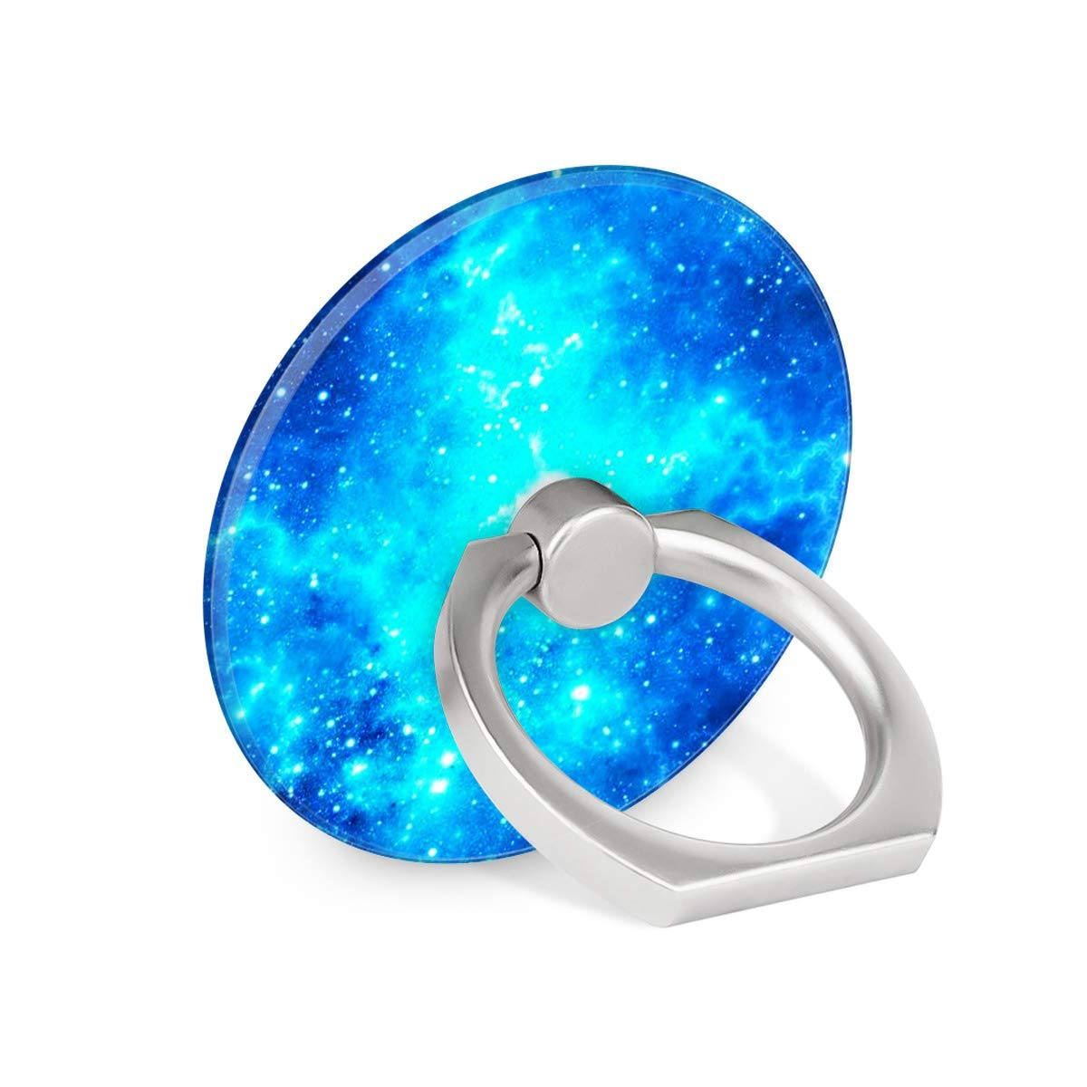 Blue Starry Sky Space Galaxy Ring Phone Holder Stand Mounts for iPhone iPad, Samsung Other Smartphones