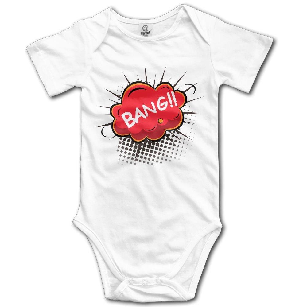 Jaylon Baby Climbing Clothes Romper Bang Infant Playsuit Bodysuit Creeper Onesies White