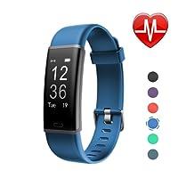 LETSCOM Fitness Armband mit Pulsmesser Fitness Tracker wasserdicht IP67, Schrittzähler, Pulsuhren, Kalorienzähler, Schlaf Monitor, Smart Armbanduhr für Kinder, Damen und Herren