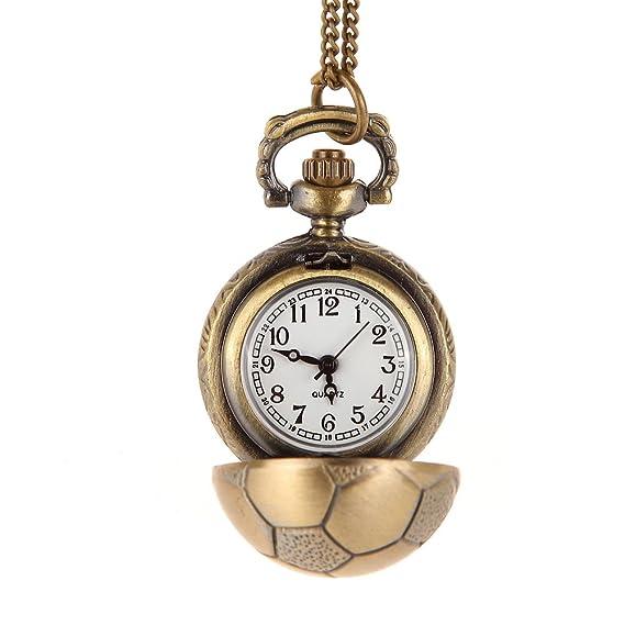 awstech Schick dibujos animados Football Pocket Watch Fútbol Reloj de bolsillo cuarzo Relojes con collar de longitud Chain: Amazon.es: Relojes