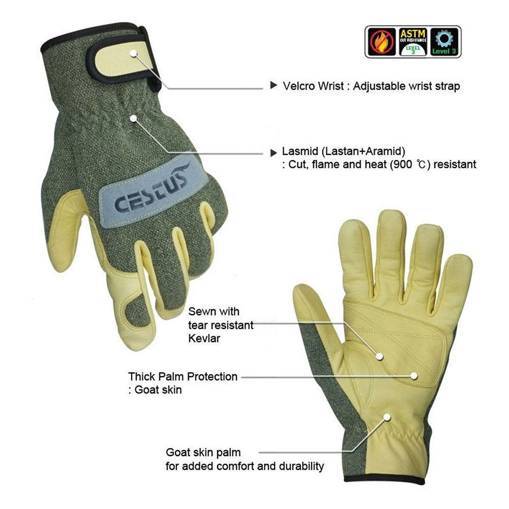Cestus Premium Argon TIG/MIG Heat-Resistant Welding Gloves L Size Ideal for welding and heat applications, plus all general purpose applications requiring ...