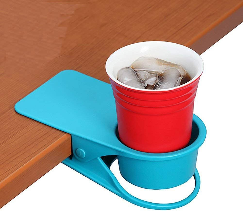 Supercope Drinking Cup Holder Clip- Chair Table Bottle Cup Stand The DIY Glass Clamp Storage Saucer Clip Water Coffee Mug Holder Saucer Clip Design Home & Office,Blue