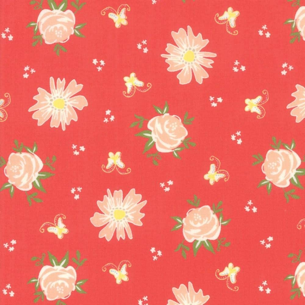 Moda Fabrics Harpers Garden Sherri and Chelsi Geranium Garden Blooms