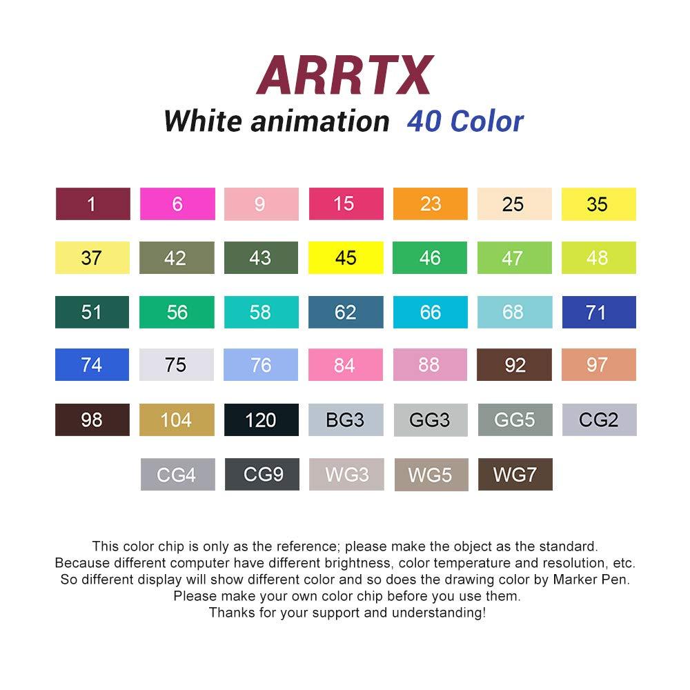 40comic Arrtx Alcoholic barra blanca, 168 colores Marcador de aceite