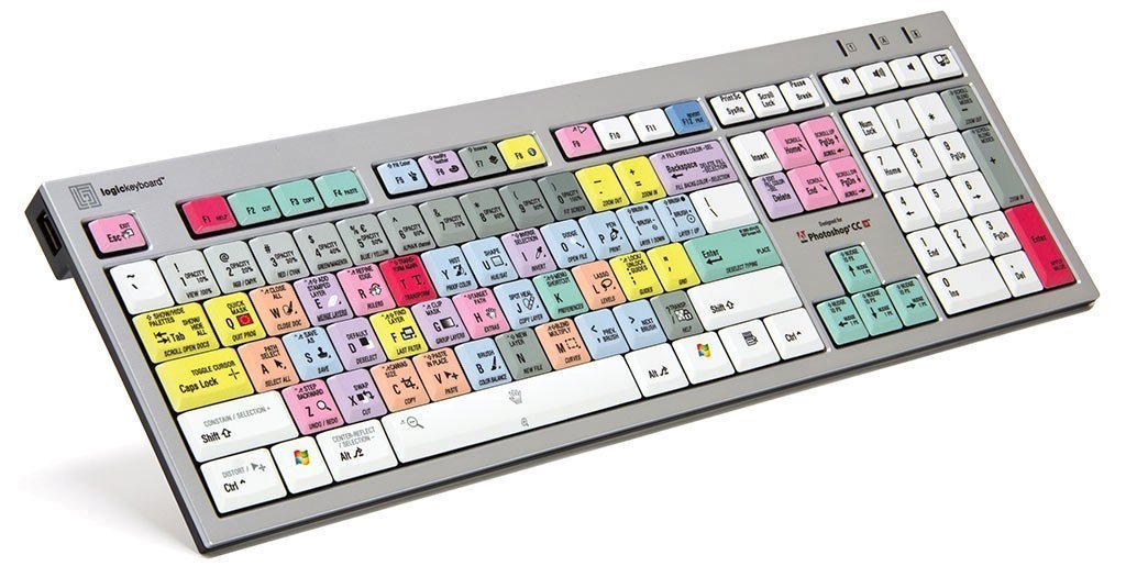 LogicKeyboard Adobe Photoshop CC American English Slim Line PC keyboard