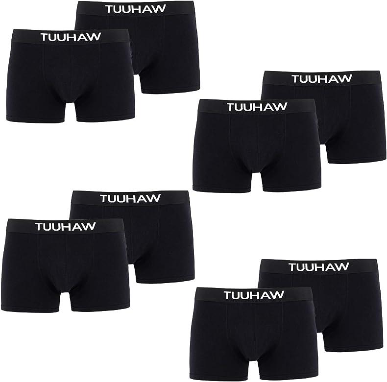TUUHAW Bóxers para Hombre 8 Pack de Ropa Multicolor Algodon ...